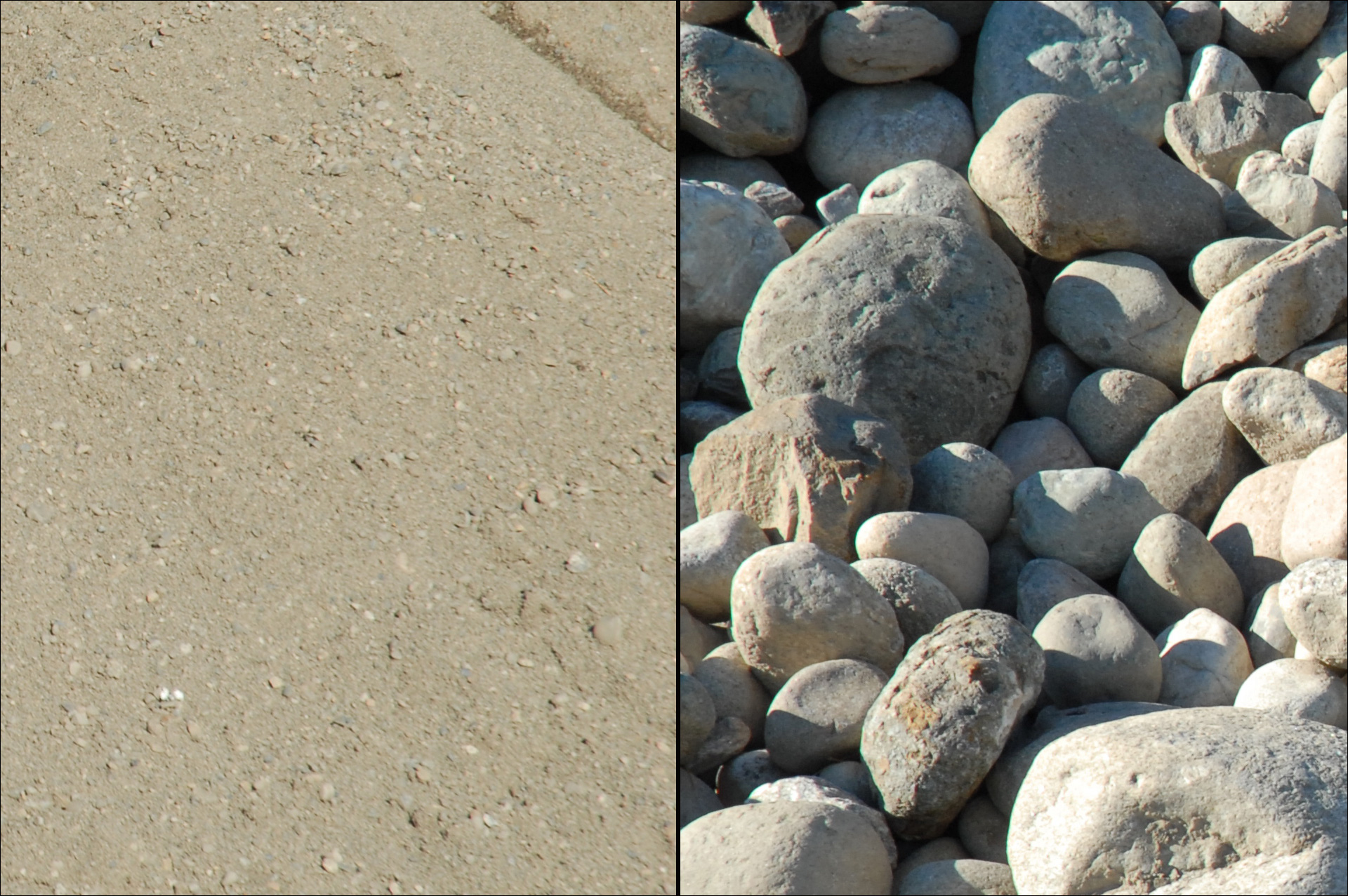 Photo of sand and rocks.